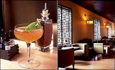 Stylish lounge serving classic cocktails in SoHo, New York City