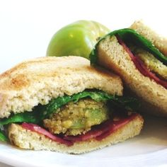 Fried Green Tomato 'BLT' with Sriracha Mayo - Tried and Truly Delicious