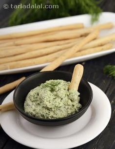 Opt for this low-fat, high-calcium dip to accompany your snacks. Curd and paneer are mixed well and dill leaves added for a nice herbal flavor. This dip tastes splendid with nachni crisps. Serve it chilled. Veg Recipes, Indian Food Recipes, Vegetarian Recipes, Cooking Recipes, Ethnic Recipes, Indian Foods, Drink Recipes, Rich Recipe, Recipe Recipe
