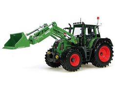 Fendt 415 with Front Loader Diecast Model Tractor by Universal Hobbies J2782 This Fendt 415 with Front Loader Diecast Model Tractor is Green and features working bucket, front lift arm, wheels. It is made by Universal Hobbies and is 1:32 scale (approx. 15cm / 5.9in long).