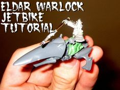 In this tutorial you'll see how to convert your own Warlock Jetbike for use in Warhammer 40k, Model, Scale Model, Pattern, Models, Modeling, Warhammer 40000, Mockup