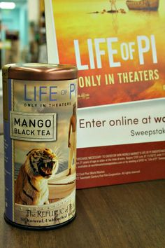 I'm a huge fan of Republic of Tea, so happy to see @Cost Plus World Market selling this Black Mango Life of Pi commemorative tin. Check out this and other great gift ideas from their movie inspired collection.