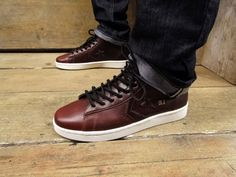 Converse First String 'Dr. J' Pro Leather x Horween – Burgundy