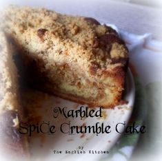 Marbled Spice Crumble Cakefrom The English Kitchen