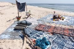 Eskayel Textile Beach Vibes  Use textiles to create a perfect beach oasis! Pigment Ink, Printing Process, Oasis, Printing On Fabric, Beach Mat, Blankets, Digital Prints, Outdoor Blanket, Textiles