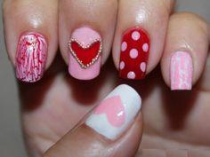 Uñas decoradas con corazones, besos y más para San Valentín – Parte 4 – Love Nails | Decoración de Uñas - Manicura y NailArt - Part 4