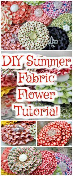 DIY Summer Fabric Flower Tutorial - 50 Easy Fabric Flowers Tutorial - Make Your Own Fabric Flowers - Page 3 of 10 - DIY & Crafts