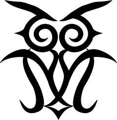 シマフクロウのイラスト素材 – アイヌ文様フリー素材【モレウ】