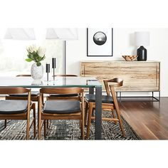 Steen Modern Cabinet with Steel Base - Cabinets & Armoires - Modern Dining Room Furniture - Room & Board