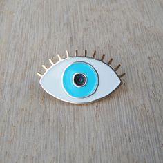 Lucky Blue Eye Enamel pin - Eye brooch - Evil Eye pin's - eyeball pin s - third eye pins - jewelry fun kitsch enamel brooch by CoucouSuzette on Etsy https://www.etsy.com/listing/237843507/lucky-blue-eye-enamel-pin-eye-brooch