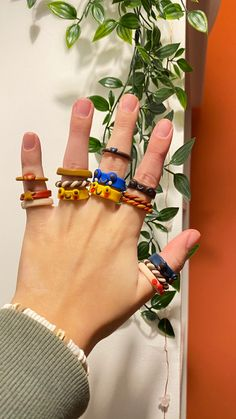 Cute Rings, Pretty Rings, Diy Clay, Clay Crafts, Biscuit, Polymer Clay Ring, Accesorios Casual, Handmade Rings, Clay Art