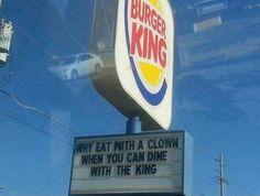 Not bad Burger King.