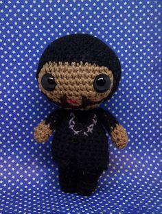 T'challa un-masked amigurumi style PDF crochet pattern inspired by Black Panther