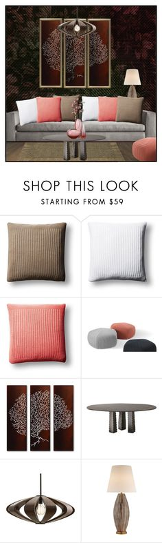 """Untitled #7818"" by ana-angela ❤ liked on Polyvore featuring interior, interiors, interior design, home, home decor, interior decorating, Minotti, Peacock Alley, Arteriors and Kelly Wearstler"