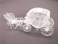 Cinderella or Princess Coach/Carriage - Princess Party Decoration, Party Favor, Place Card Holder, Cake Topper on Etsy, $4.61 AUD