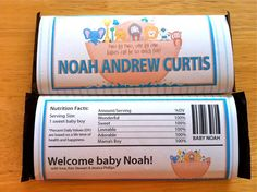 Printable Noah's Ark Candy Bar Wrapper by GraphicDesignbyBecky, $8.00