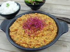 Yellow dal - kari z červené čočky – Snědeno. Cooking Recipes, Healthy Recipes, Healthy Food, Cooking Light, Risotto, Macaroni And Cheese, Low Carb, Vegan