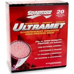 Buy one or more items & save more! CHAMPION NUTRITION Ultramet in 20 packets buy 1 - 2 - 3 or more items #CHAMPIONNUTRITION