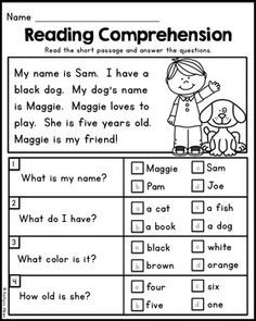 September Back to School Printables – Math and Literacy Packet for First Grade September Back to School Printables – Mathe und Alphabetisierung Pa 1st Grade Reading Worksheets, First Grade Reading Comprehension, English Worksheets For Kindergarten, Phonics Reading, Reading Comprehension Worksheets, Teaching Reading, Reading Passages, Comprehension Strategies, Reading Response