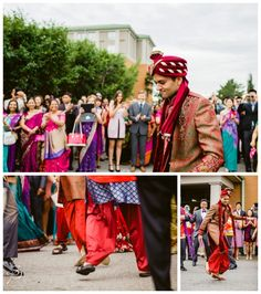 Barat Dancing at a Calgary East Indian Wedding. See more multicultural weddings on our blog: www.sujataphotography.com/blog