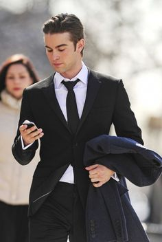"""Chace Crawford with his iPhone was seen walking in New York City, He was on his way to shoot for his TV show """"Gossip Girl"""" Chace has won Teen Choice Awards in 2008, 2009, & 2010."""