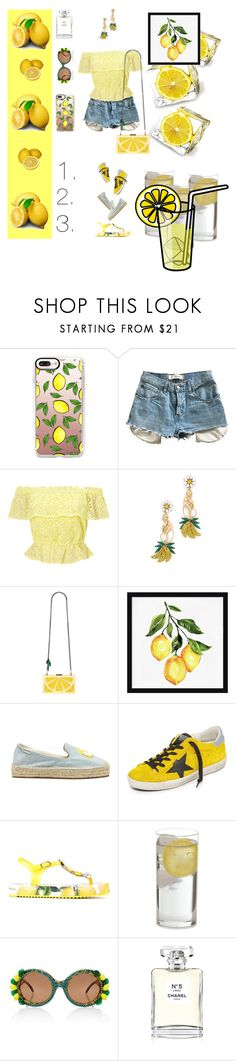 """1.2.3.lemon-cured🍋🍋🍋"" by lolla-cher ❤ liked on Polyvore featuring Casetify, Levi's, Miss Selfridge, Elizabeth Cole, Alice + Olivia, Pottery Barn, Soludos, Golden Goose, Dolce&Gabbana and A-Morir by Kerin Rose"