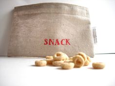 Custom Reusable Snack Bag by House Jewels on Scoutmob Shoppe Diaper Bag Essentials, Diy Home Furniture, Snack Bags, Goodie Bags, Craft Projects, Craft Ideas, Whole Food Recipes, New Baby Products, Reusable Tote Bags