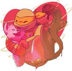 Yummy Sweet Kitty by Fantazy-Mad on DeviantArt Tmnt Mikey, Tmnt 2012, We Are Strong, Invader Zim, Teenage Mutant Ninja Turtles, Teenagers, Pikachu, Mad, Ice Cream