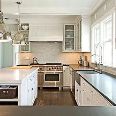 Island Shelves, Transitional, kitchen, Benco Construction