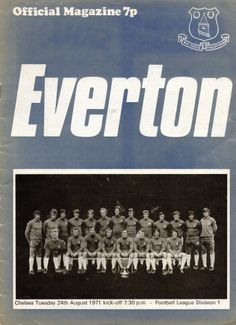 Everton v Chelsea match day programme, 1971-72