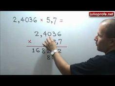 Multiplicación de números decimales: Julio Rios explica cómo multiplicar números decimales.