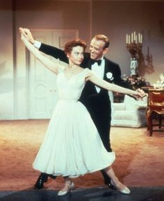 Leslie Caron and Fred Astaire in Daddy Long Legs
