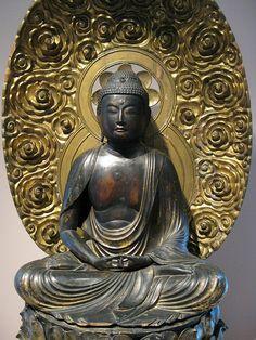 Amida Buddha, Japan, 1700s, Lacquered Wood. Denver Art Museum, Colorado, USA