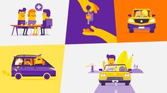 Cool #2D #illustrations in this Motor Finance Wizard #TVC