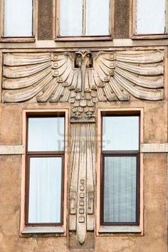 Saint-Petersburg. Bird on the wall of Art Nouveau building Stock Photo ...