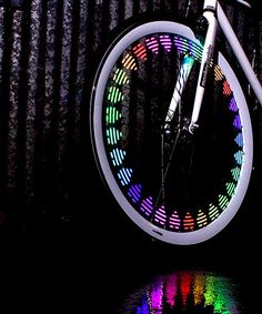 <3 <3 <3 = LED Wheel Light Pattern Set by MonkeyLectric. For nighttime on the Playa.  #zulilyfinds
