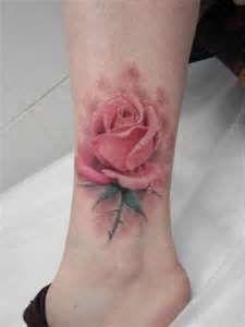 Pink Rose Tatoo Tatoos Tattoo Tattoos I think I really like the no black lines!! beautiful