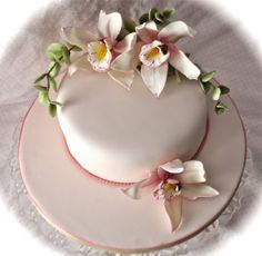 Cakes With Orchids   Orchid cake   Flickr - Photo Sharing!