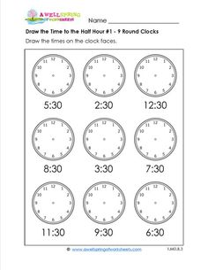 Free Worksheets    Telling Time Worksheets Blank Clock Faces   Free     Pinterest