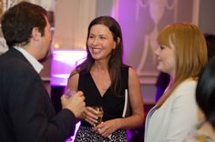 Networking; Laura (centre) and Kelly
