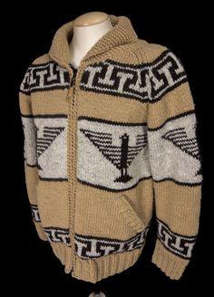 LAUNDROMAT Mens Phoenix Sweater Size L Large Wool Fleece Lined Cardigan Coat #Laundromat #Cardigan