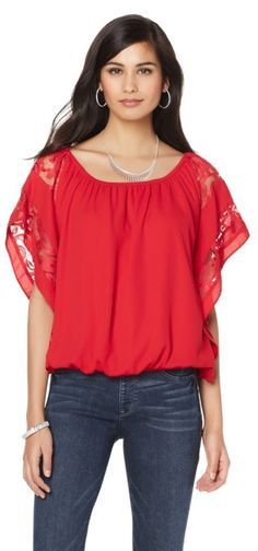 """This Colleen Lopez """"Love Lace"""" Peasant Top is going to be your new favorite top! Available in 9 different colors/designs, you're sure to fall in love with more than one! They pair perfectly with denim, skirts and more! Which color/design option is your favorite? How would you style this top?"""