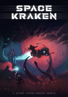 An epic dungeon crawler upcomming on Kickstarter this may. Kraken, Science Fiction, Board Games, Movie Posters, Spacecraft, Sci Fi, Tabletop Games, Film Poster, Billboard