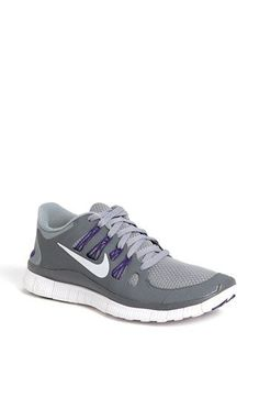 Nike 'Free 5.0' Running Shoe (Women) available at #Nordstrom In black & pink