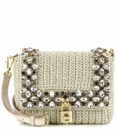 Dolce & Gabbana - Borsa Dolce in rafia con cristalli - mytheresa.com GmbH
