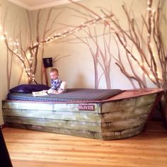 DIY- Boat Bed with secret compartments  Dream to be a sailor? Here is a DIY bed that fulfills your dream. It combines both creativity and functionality. And I am sure this bed will be a hit with young pirates in your family.  This bed is also a great way to demonstrate to young generation how to turn imagination into reality with creativity.  This project may look complicated, but actually you could build this wonderful DIY boat bed in just a matter of a weekend. The frame resembles boat…