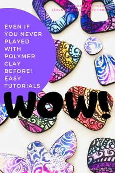 Alcohol ink painting on polymer clay - How to DIY polymer clay tutorials! Polymer Clay Ornaments, Polymer Clay Christmas, Polymer Clay Canes, Polymer Clay Flowers, Polymer Clay Pendant, Polymer Clay Projects, Diy Clay, Handmade Polymer Clay, Polymer Clay Jewelry