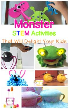 Try these monster science and STEM activities with your kids and bring Halloween fun into the classroom! This is a perfect way to bring Halloween STEM home. Preschool Science, Science Experiments Kids, Science For Kids, Science Fair, Summer Science, Science Chemistry, Physical Science, Science Classroom, Earth Science