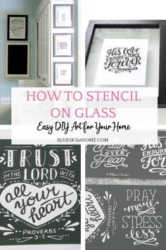 How to Stencil on Glass Using a Floating Frame. This easy project uses adhesive stencils for glass painting. Quickly create decorative art for your home. #paintingonglass #stencilsonglass #stencilDIY #blueskyathome Adhesive Stencils, Stencil Diy, Contemporary Home Decor, Unique Home Decor, Hallway Decorating, Entryway Decor, Cheap Dorm Decor, Home Remodel Costs, Indian Home Interior