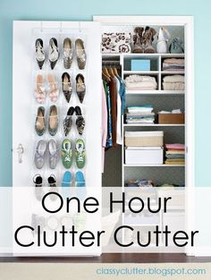 1-Hour Clutter Cutter; follow these simple tips to de-clutter your dorm room in under an hour, your roommate will thank you!